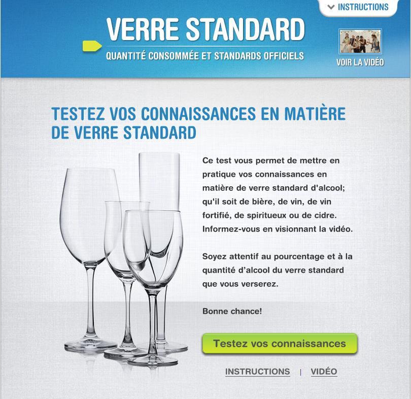 Test verre standard